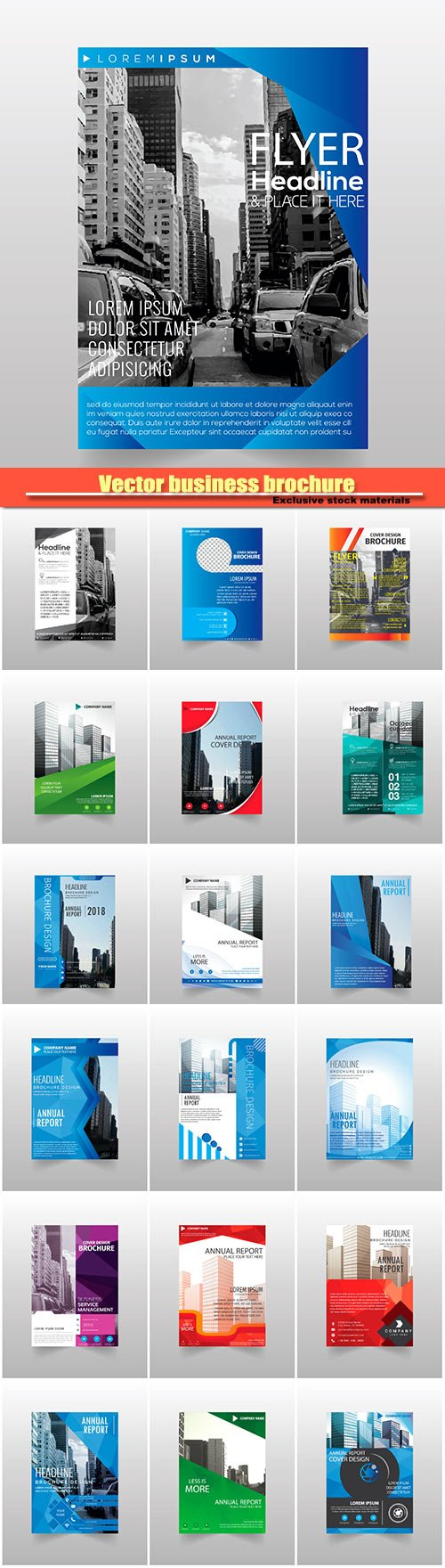Vector business brochure flyers