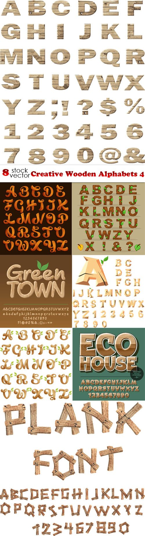 Vectors - Creative Wooden Alphabets 4