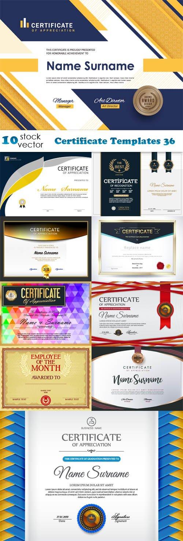 Vectors - Certificate Templates 36