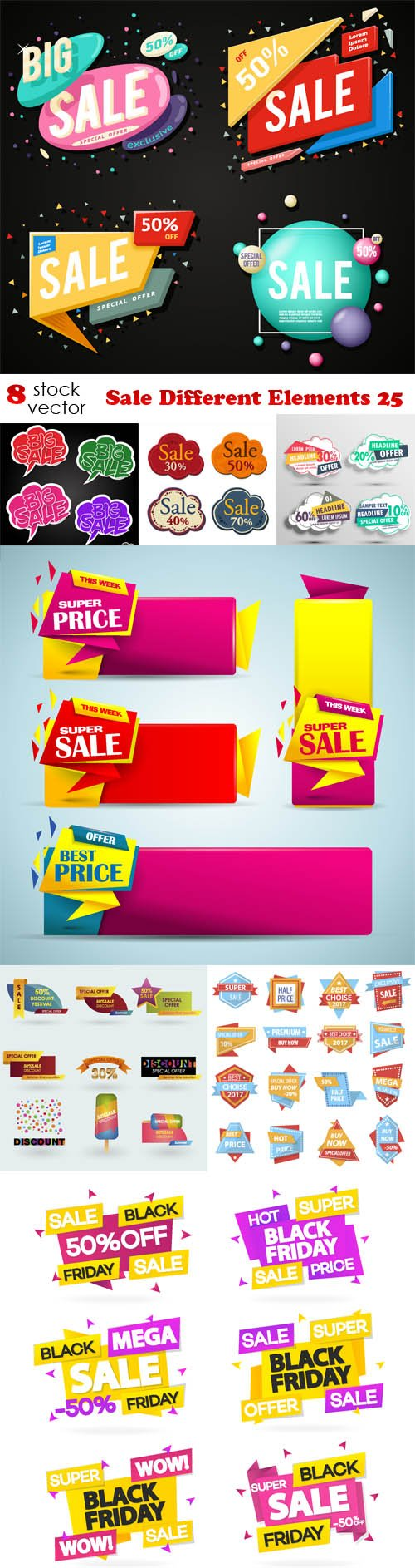 Vectors - Sale Different Elements 25