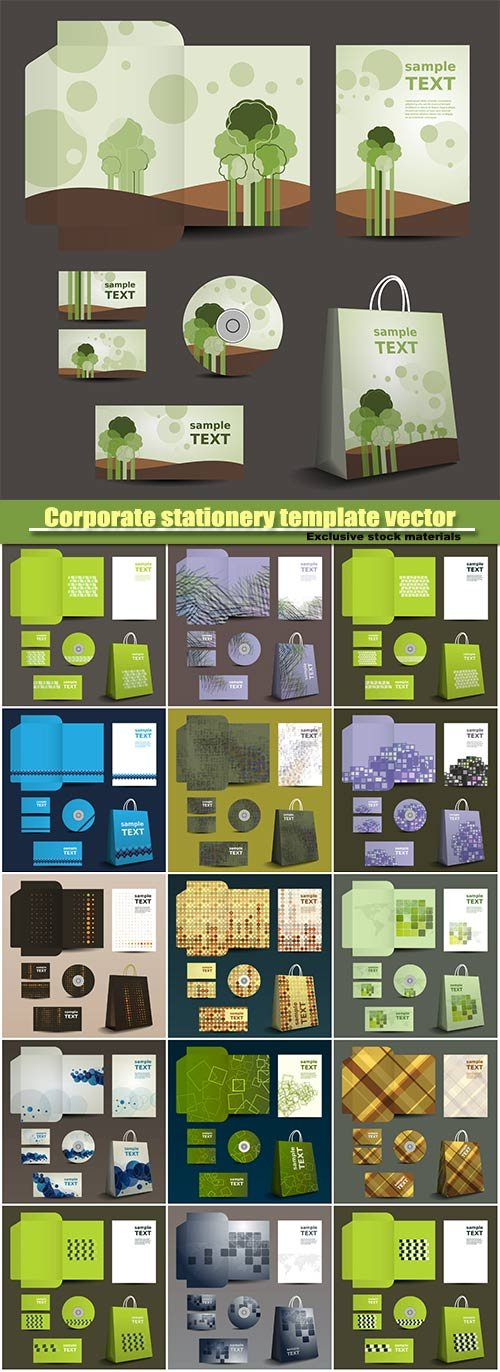 Corporate stationery template vector