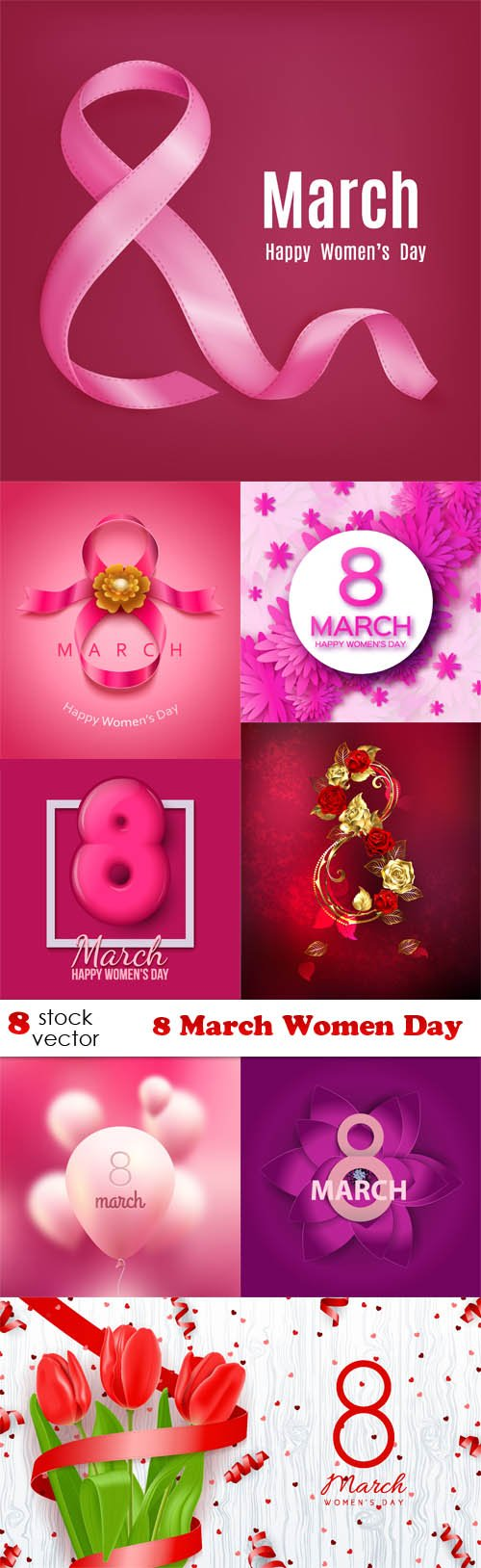 Vectors - 8 March Women Day