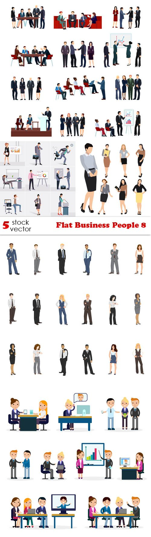 Vectors - Flat Business People 8