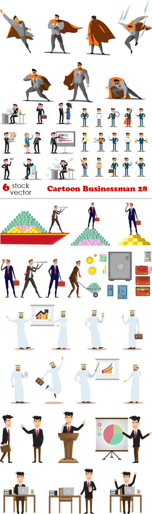 Vectors - Cartoon Businessman 28