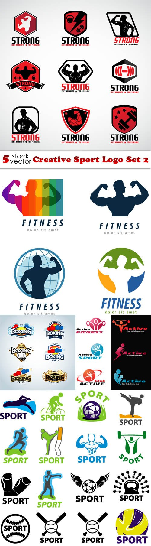 Vectors - Creative Sport Logo Set 2