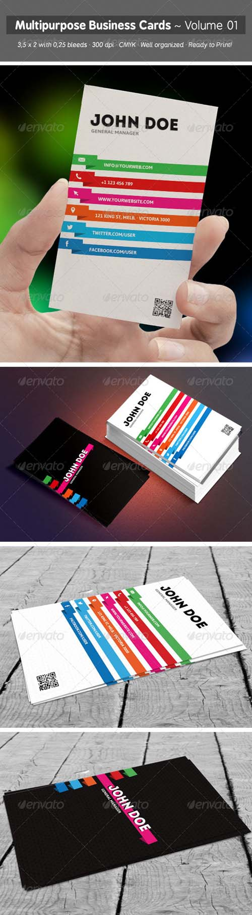 Multipurpose Business Cards - Volume 01 6808803