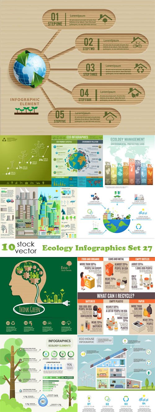 Vectors - Ecology Infographics Set 27
