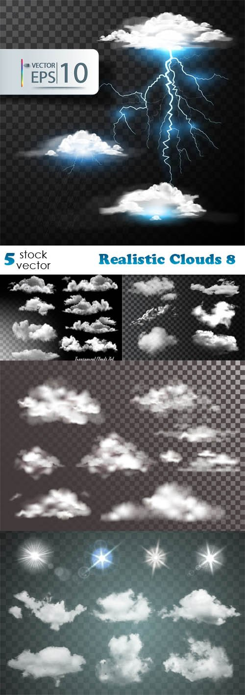 Vectors - Realistic Clouds 8
