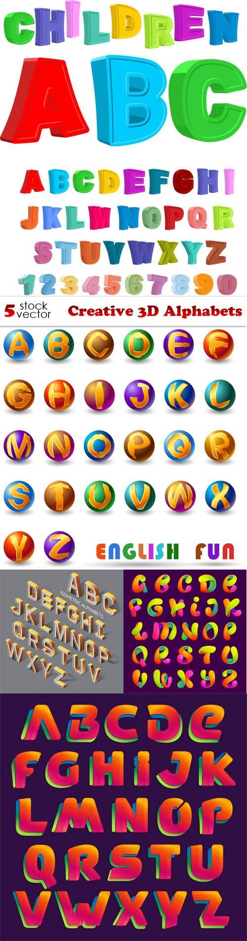 Vectors - Creative 3D Alphabets