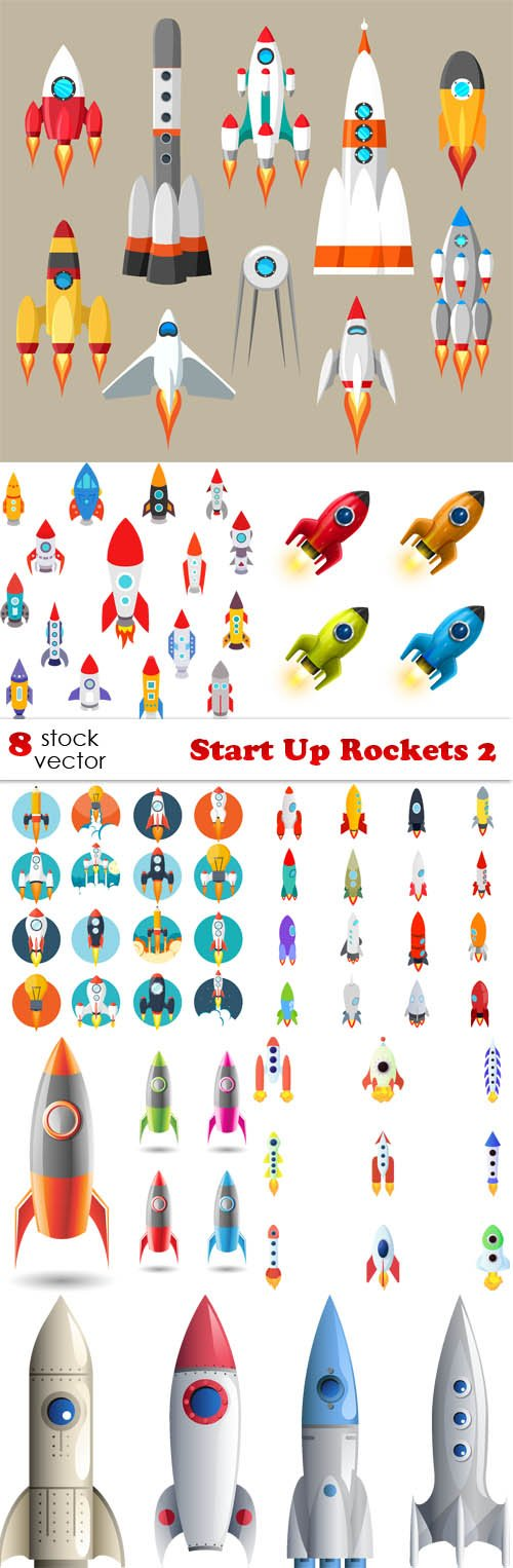 Vectors - Start Up Rockets 2