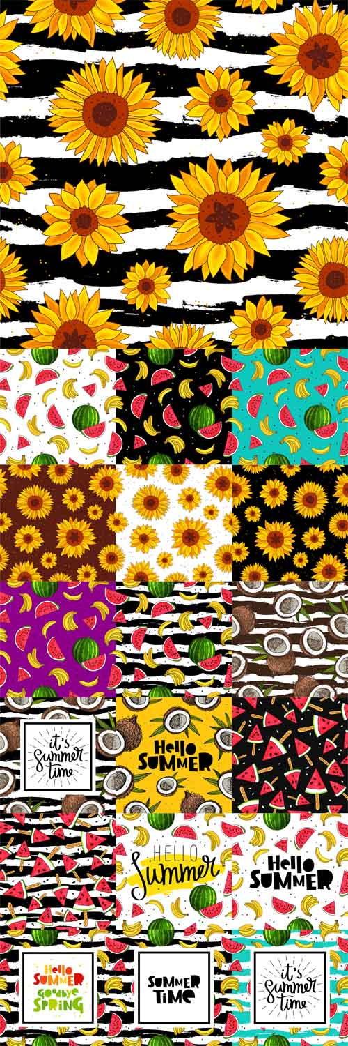Vector Fun Summer Patterns