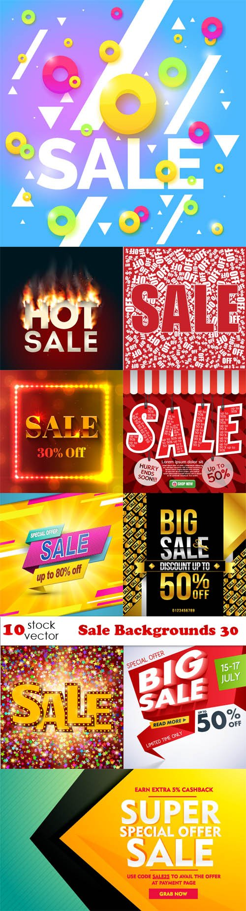Vectors - Sale Backgrounds 30