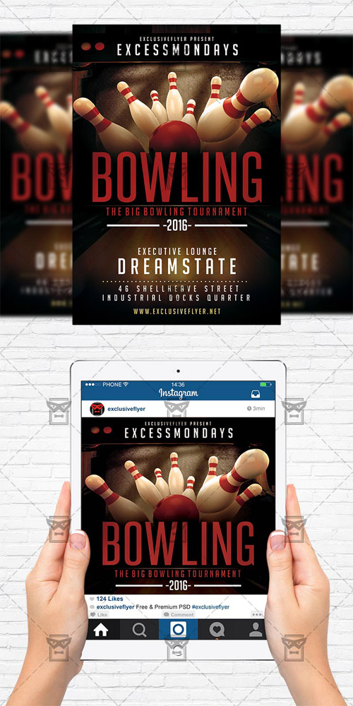 Flyer Template - The Big Bowling
