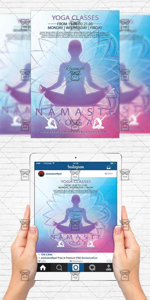 Flyer Template - Yoga Classes