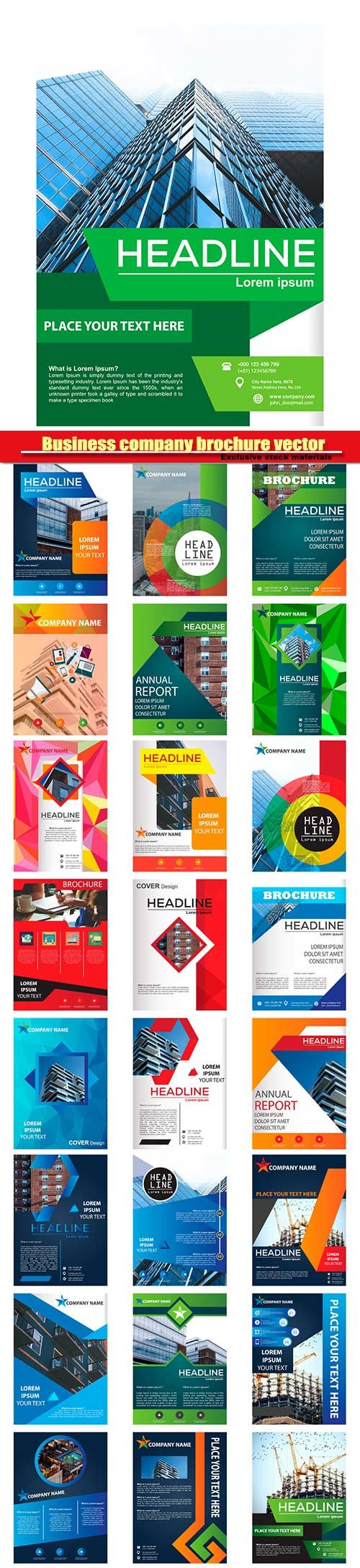 Business company brochure vector