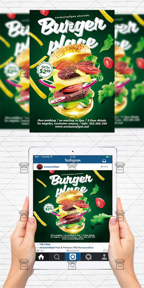 Flyer Template - Burger Place