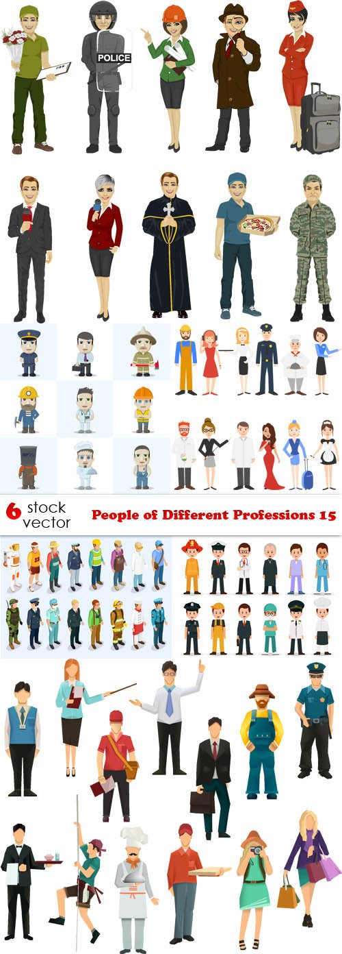 Vectors - People of Different Professions 15