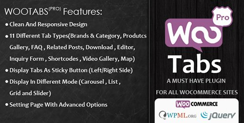 CodeCanyon - Woocommerce Tabs Pro v2.4 - Extra Tabs for Product Page - 8218941