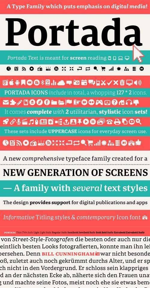 Portada Font Family