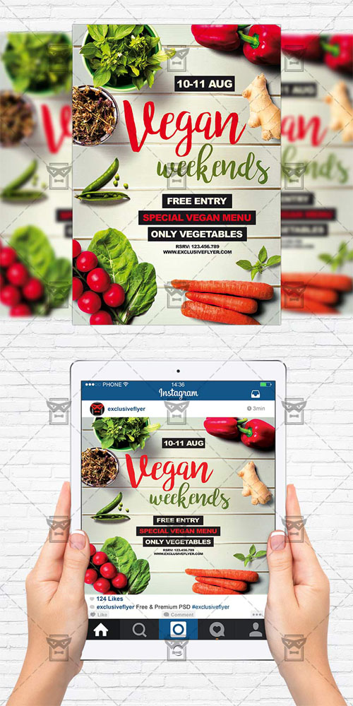 Flyer Template - Vegan Weekends