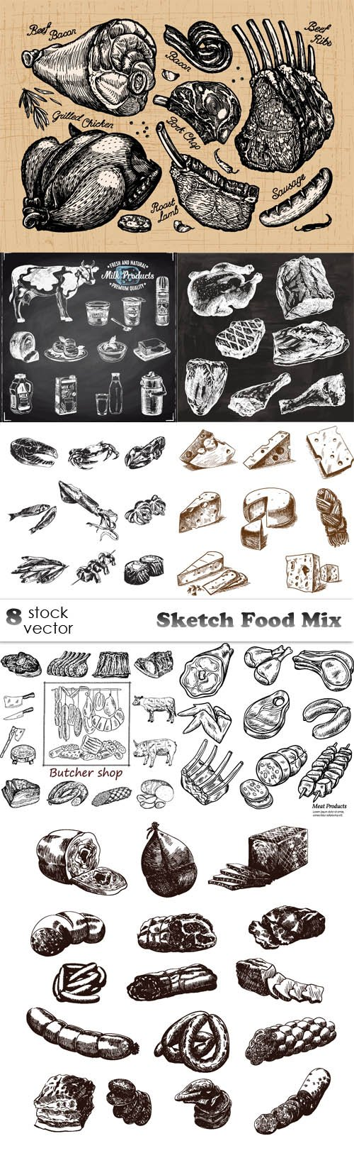 Vectors - Sketch Food Mix