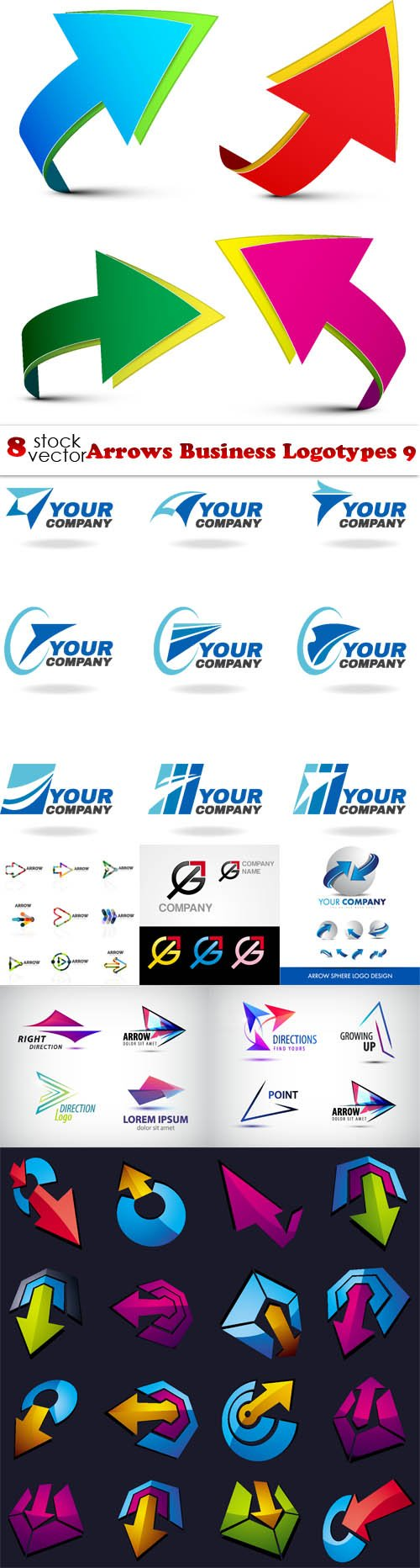 Vectors - Arrows Business Logotypes 9