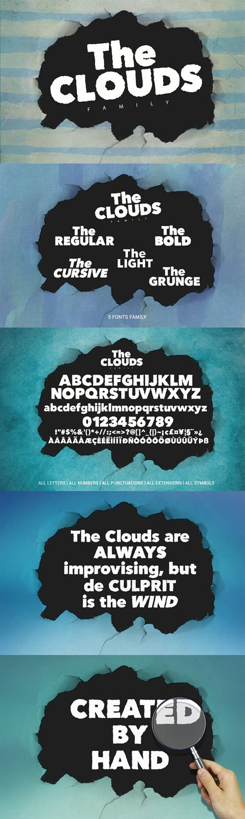 The Clouds Family Fonts
