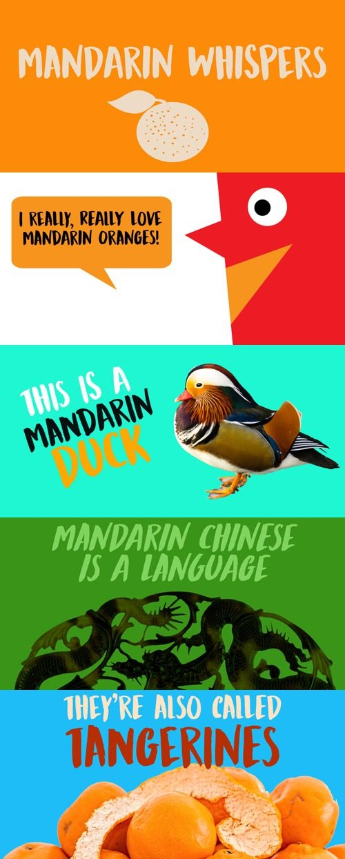 Mandarin Whispers font family