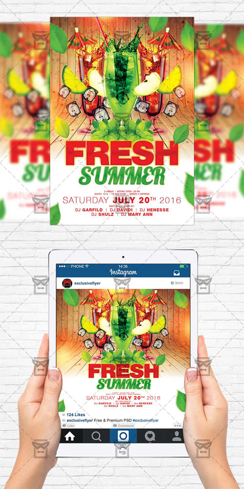 Flyer Template - Fresh Summer