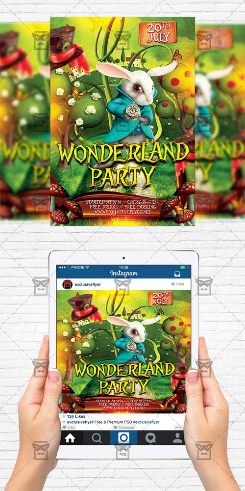Flyer Template - Wonderland Party