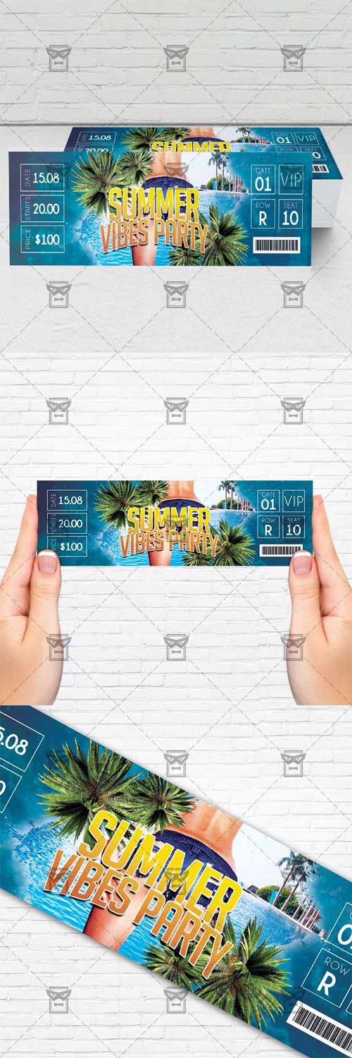 Ticket Template - Summer Vibes Party