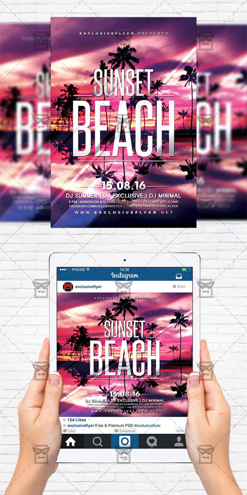 Flyer Template - Sunset Beach