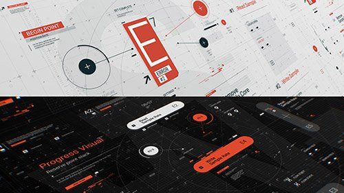 HUD Typo Graphics Pack - Project for After Effects (Videohive)