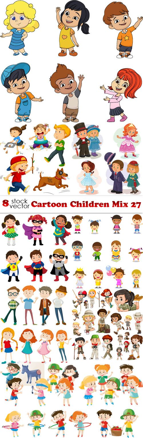 Vectors - Cartoon Children Mix 27