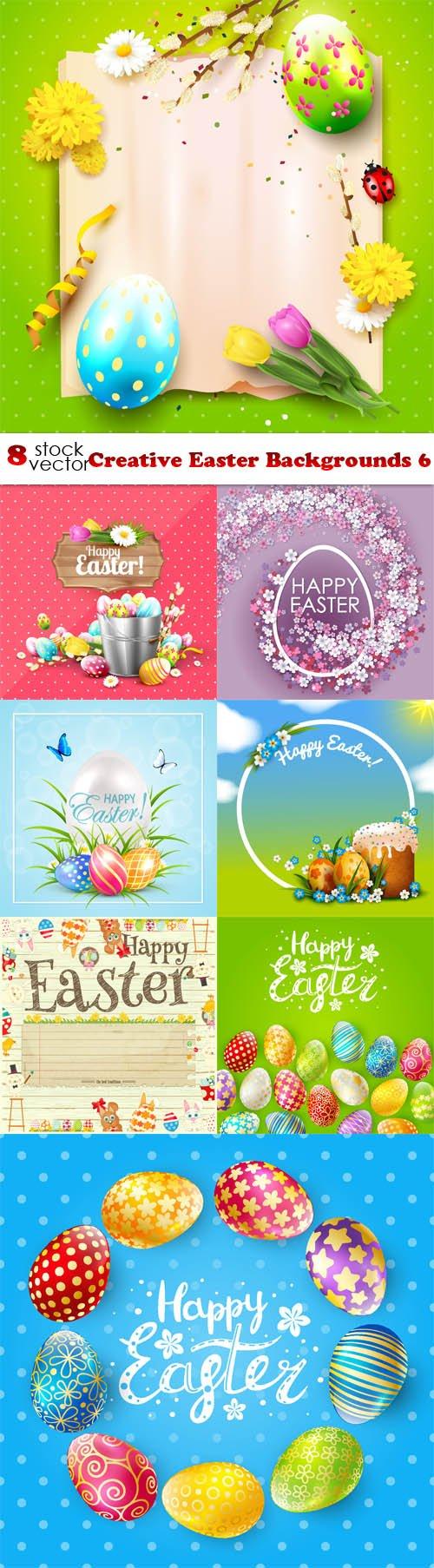 Vectors - Creative Easter Backgrounds 6