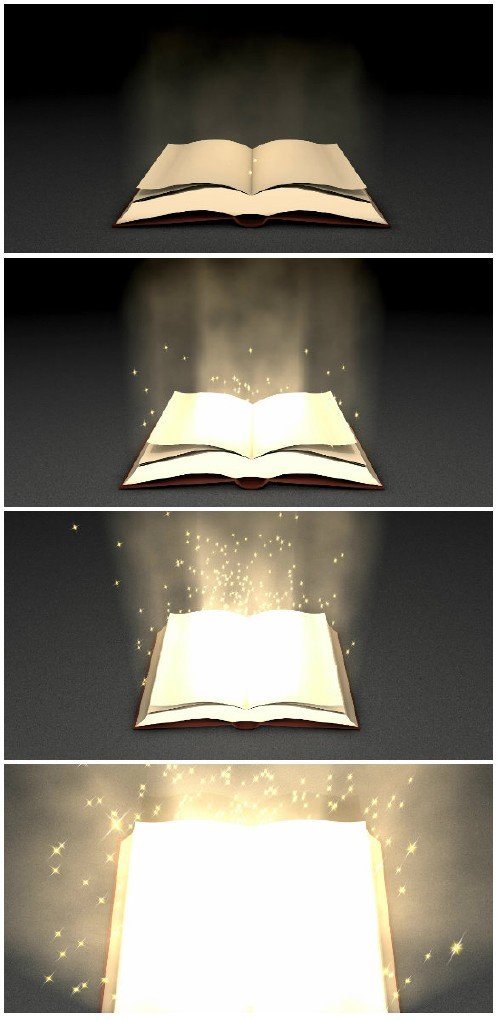 Video footage Magical book zoom in animation