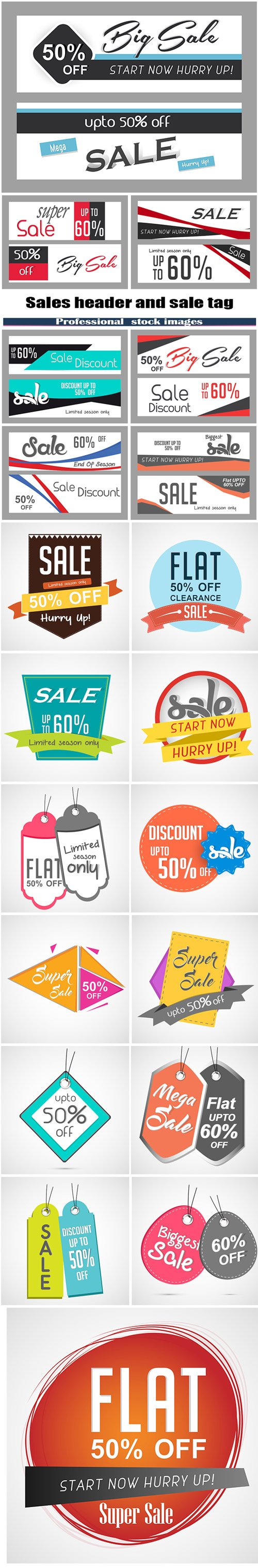 Sales header and sale tag design