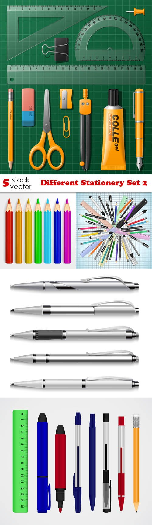 Vectors - Different Stationery Set 2