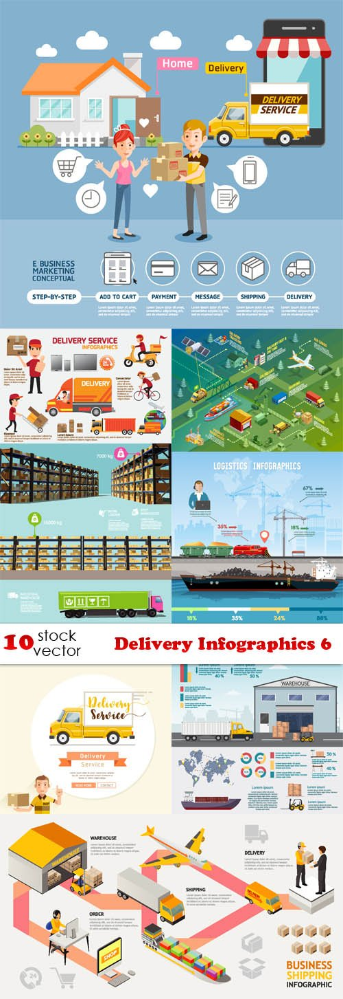 Vectors - Delivery Infographics 6