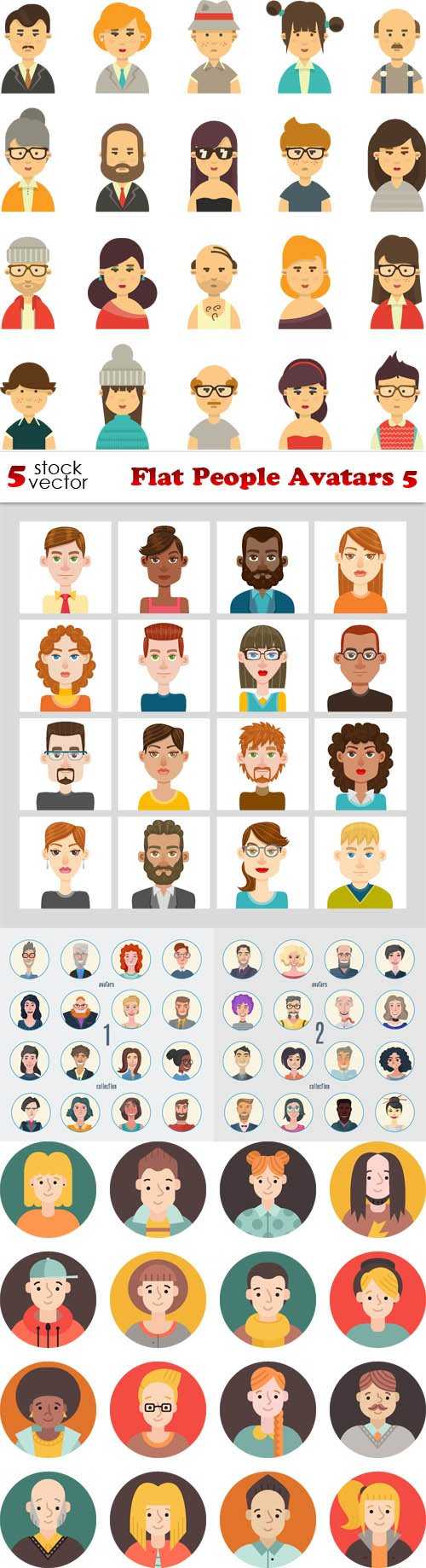 Vectors - Flat People Avatars 5