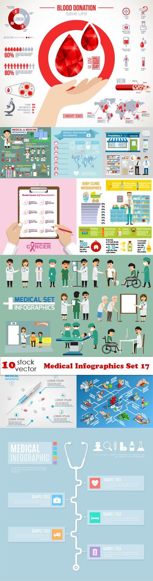Vectors - Medical Infographics Set 17