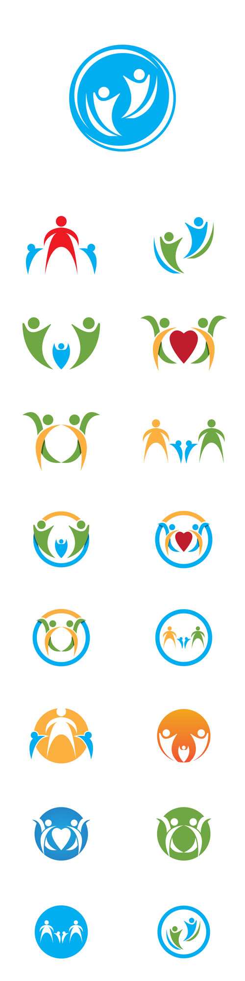 Vector Health Care Logos