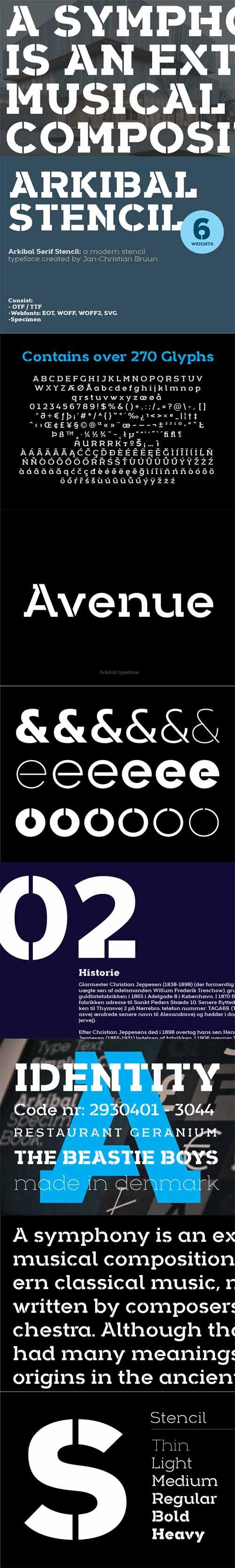 Arkibal Stencil Serif Font