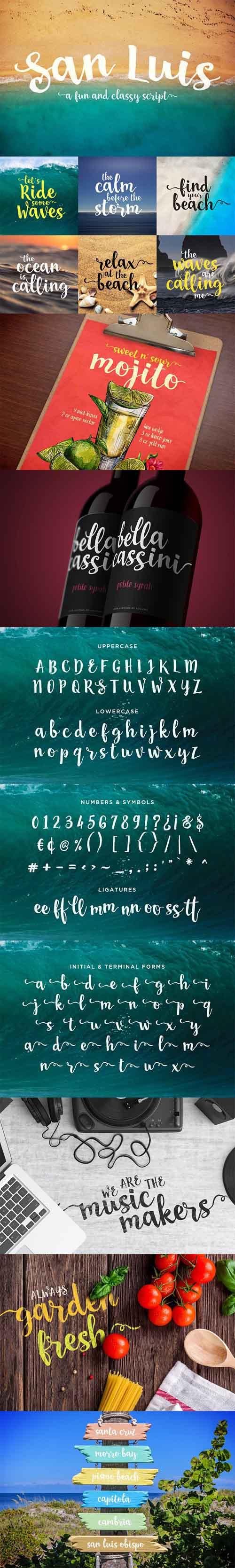 San Luis Script Font 1325773