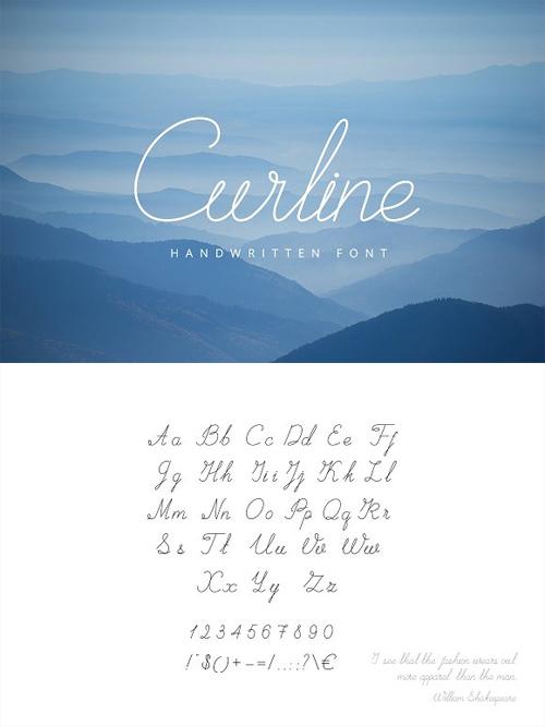 Curline Handwritten Script 659314