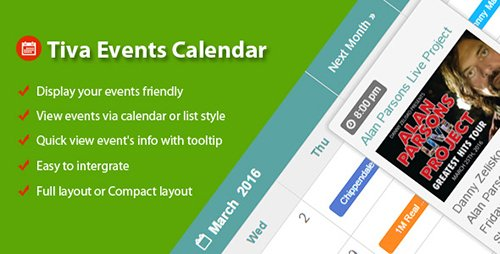 CodeCanyon - Tiva Events Calendar For Wordpress v1.4 - 16326747