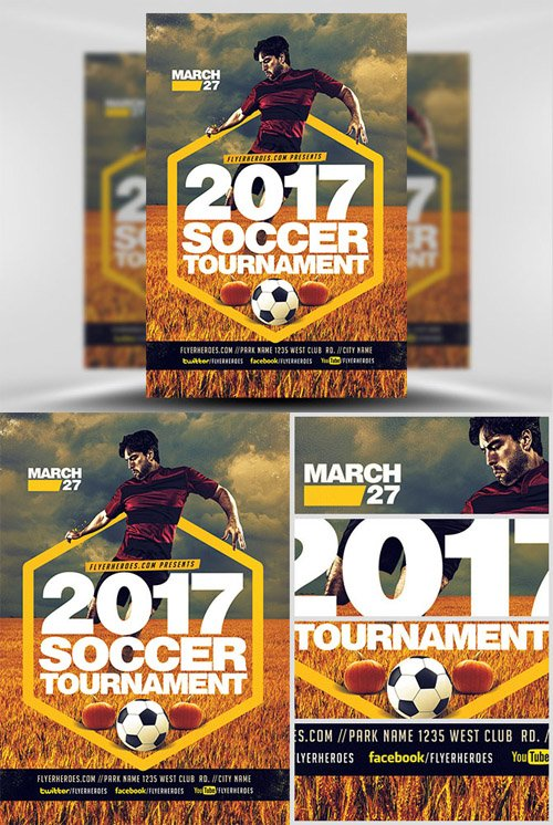 Flyer Template - 2017 Soccer Tournament