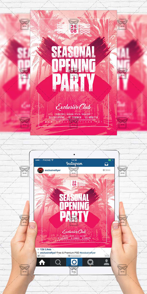 Flyer Template - Season Opening Party