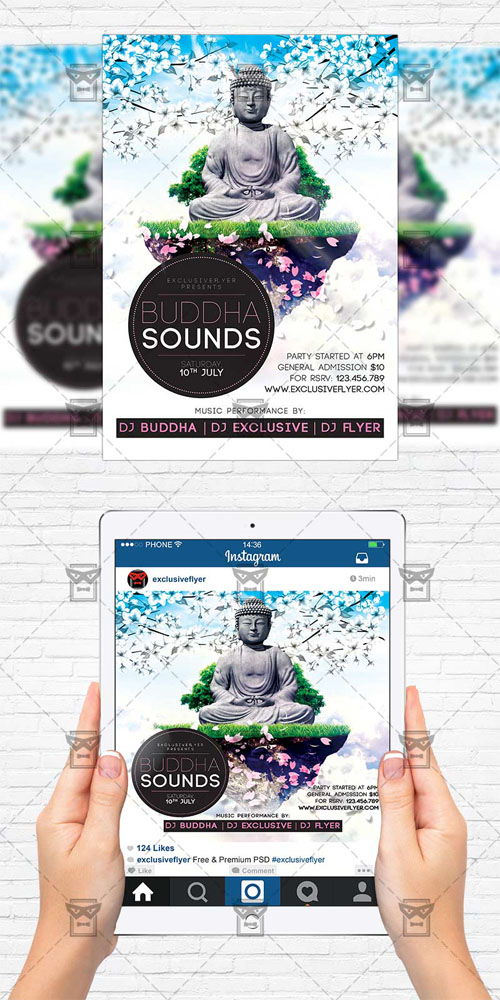 Flyer Template - Buddha Sounds