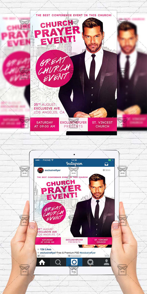 Flyer Template - Church Praye Event